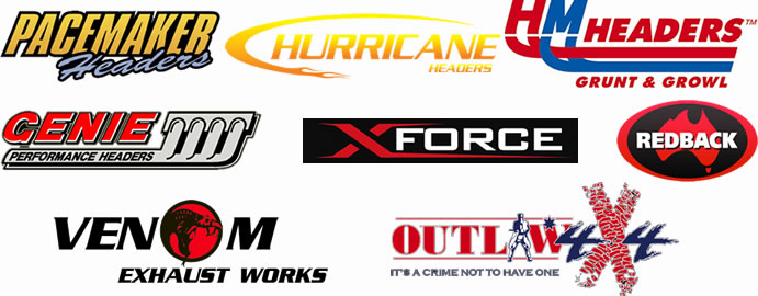 Replacement exhaust system logos